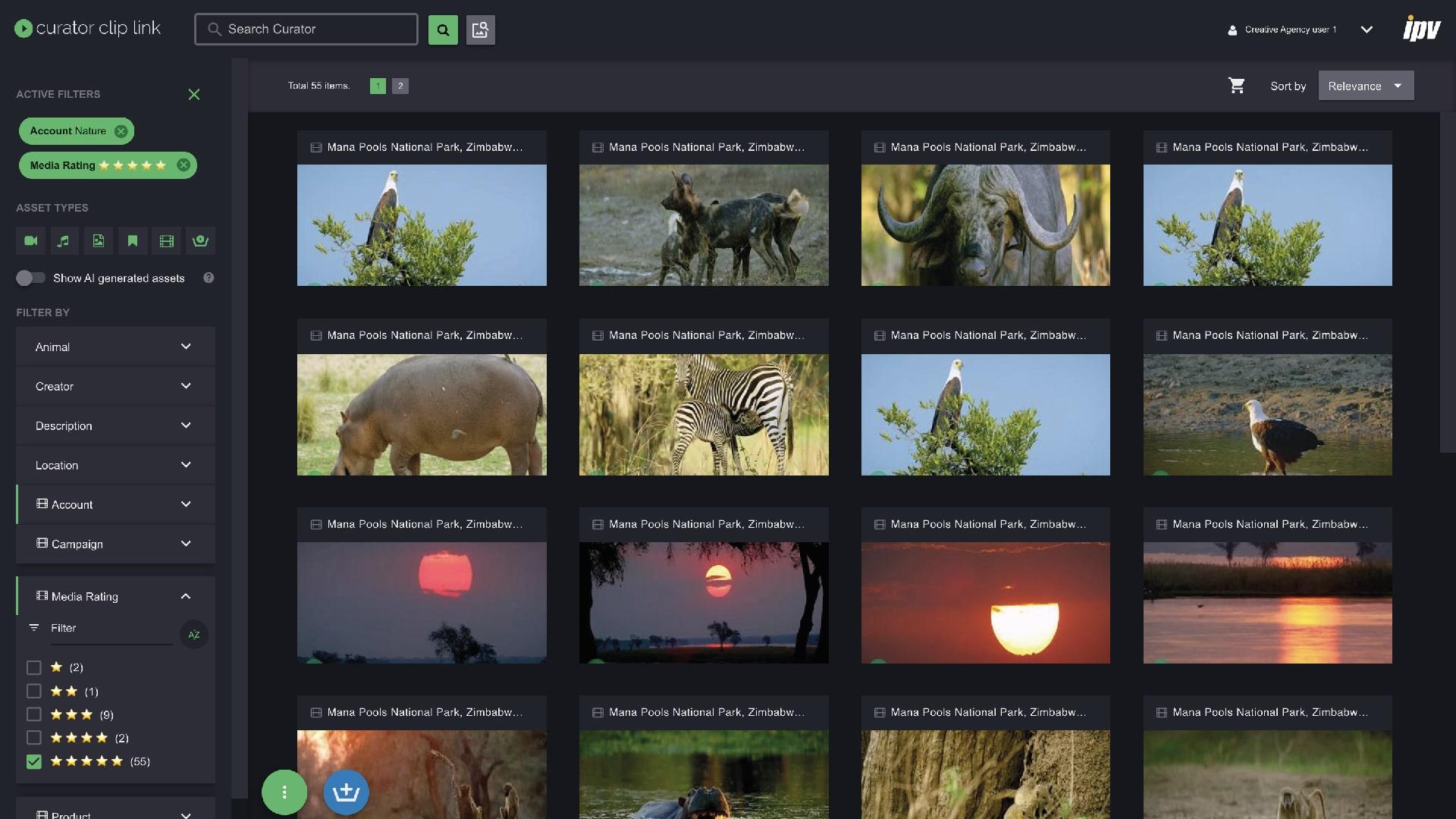 A screenshot of Curator Server